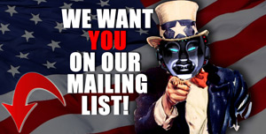 Join our FREE Mailing list!